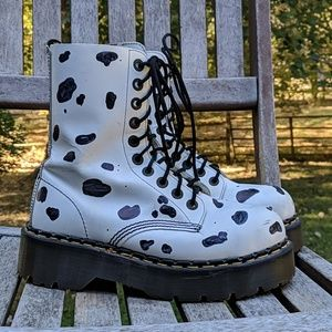 Dr. Martens Made In England White Leather Boots